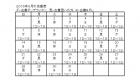 2016年8月はんのき店番表