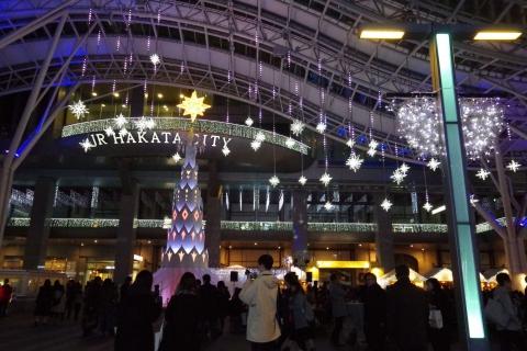 福岡市博多駅前のイルミネーション2016年