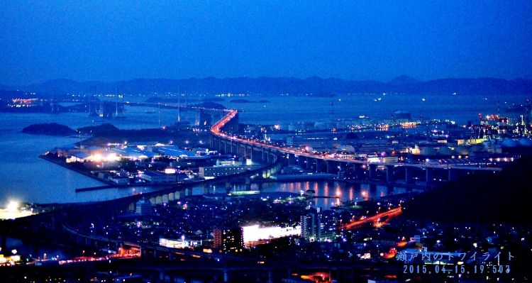 瀬戸大橋夜景1