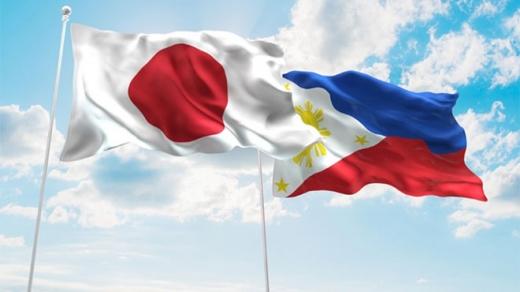 日本とフィリピン国旗