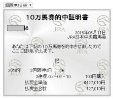 阪神6R10万馬券