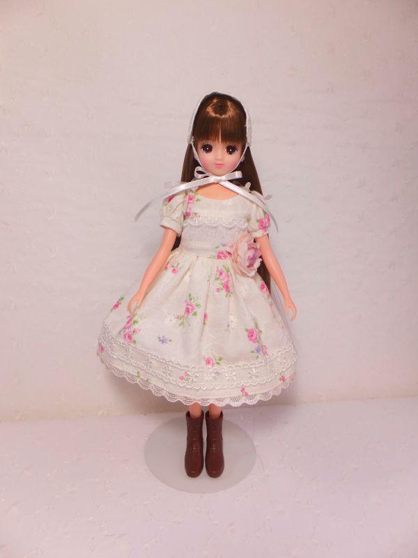 s-花柄ドレス
