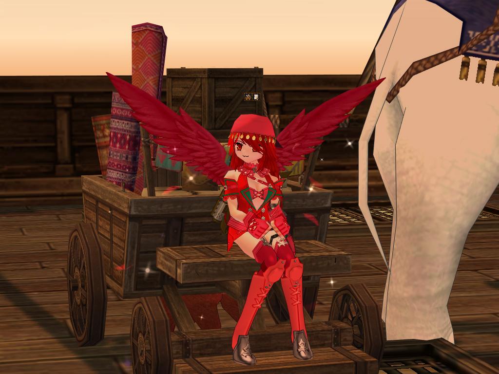鮮紅のアクシアの翼