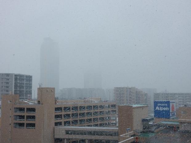 紅葉&雪@通勤路 (4)