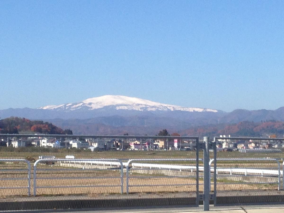 初冬の月山