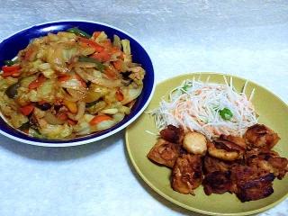160412_3880野菜炒め・鶏もも南蛮風味VGA