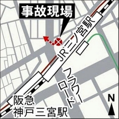 160503 三宮駅北側で車暴走事故 地図 d_09047346_640x640
