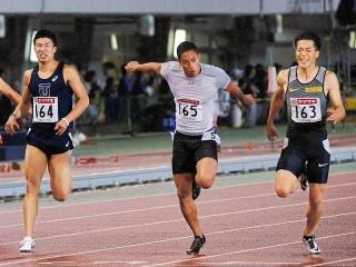 160625「日本選手権男子100m」決勝1位ケンブリッジ・2位山縣・3位桐生 m_20160625095_VGA