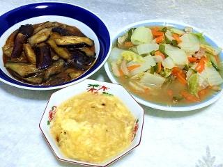 160809_4119麻婆茄子・八宝菜・玉子の中華スープVGA