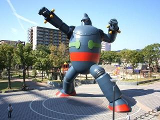 161017 新長田の若松公園に立つ「鉄人28号」Wakamatsu_Park_Nagata-ku_Kobe02nLR