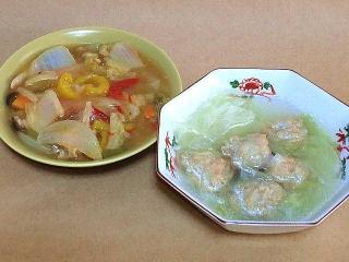 161018_4259 パプリカの八宝菜・白菜と鶏団子の中華風スープVGA