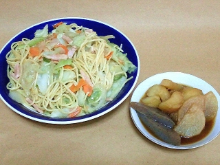 161021_4263 野菜炒めスパ・根菜とコンニャクの赤味噌煮込みVGA