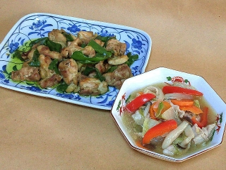 161104_4287 鶏もも肉とピーマンのグリーンカレー炒め・八宝菜VGA