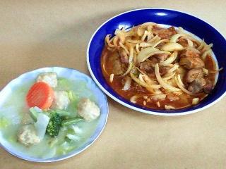 161115_4302財田さんの料理・白菜のクリームシチュー・豚ブロック肉のトマト煮込みVGA