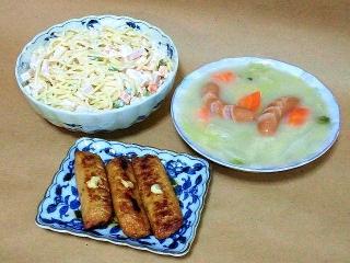 161213_4353 スパゲディサラダ・白菜のクリーム煮・ごぼう天の生姜焼きVGA