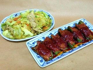 161220_4358 豚肉と野菜の炒め物・肉詰めピーマンVGA