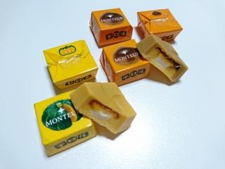 チロルチョコ 焼きプリンモンブランと北海道かぼちゃのプリンaa