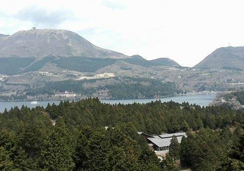 6 芦ノ湖の見えるパーキング