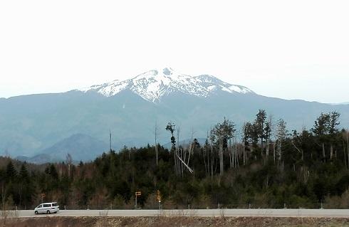 1 チャオ御嶽スキー場から見る乗鞍岳