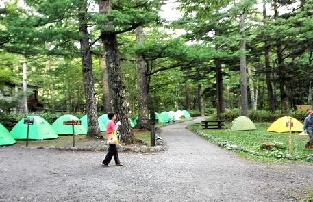 16 小梨平キャンプに着いた