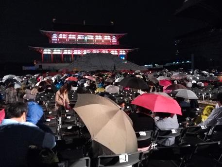 17 途中から雨、3幕は公演中止