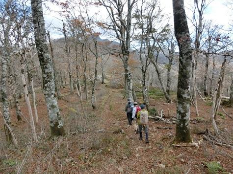 5 冬の様相の稜線を行く