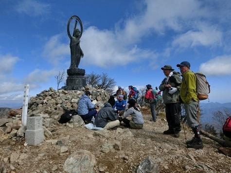 12 釈迦が岳・頂上