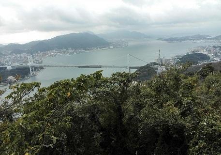 1 火の山公園より、関門橋