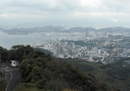 2 火の山公園から下関駅方面