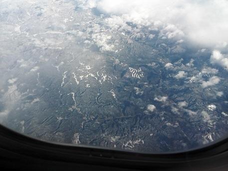 5 岡山県と兵庫県の県境上空