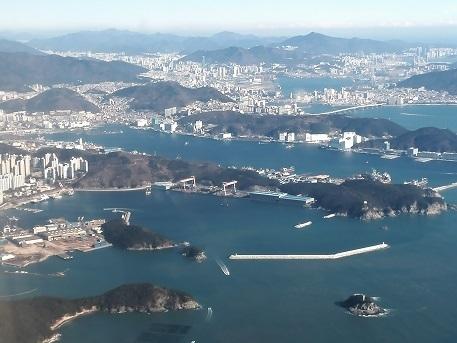 6 釜山の上空