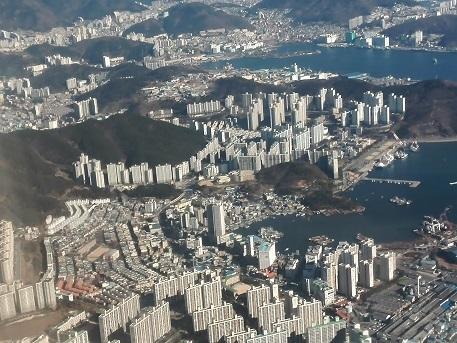 7 釜山のアパート群