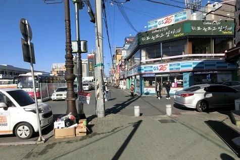 18 慶州の高速バスターミナル付近