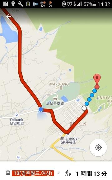 3 グーグルマップで、仏国寺の位置を確かめる