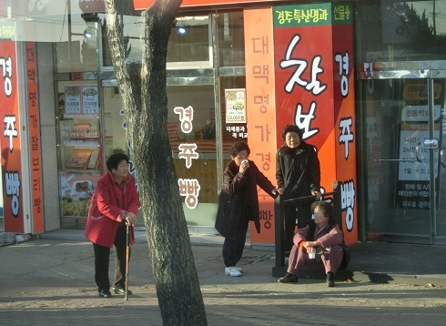 9 慶州の街角