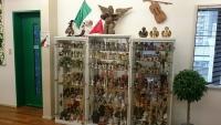 バイオリン人形の展示