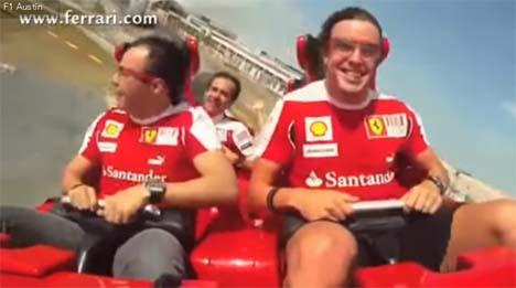 世界最速のジェットコースターにフェルナンド・アロンソ、フェリペ・マッサが!