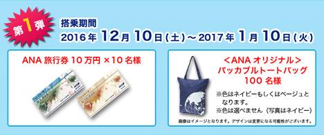 ANA旅行券10万円分などが当たる、ANAダイナミックキャンペーン第1弾が始まります。2