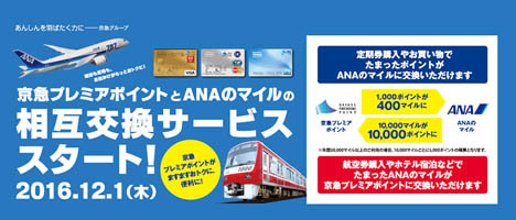 京急は、ANAのマイルとの相互交換サービスを発表、ハワイ旅行などが当たるキャンペーンを開催!