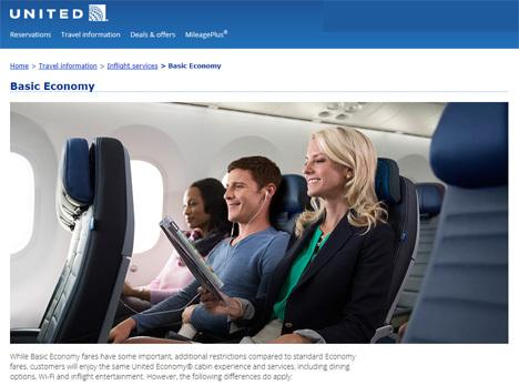 ユナイテッド航空は、エコノミークラスよりお得な制限付き「ベーシックエコノミー運賃」を発表!ANA上級会員なら追加制限なし?