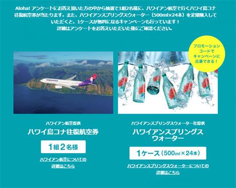 ハワイアン航空は、「アンケートに答えて、ハワイ島コナ往復航空券を当てよう!」キャンペーンを開催!