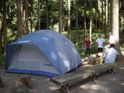 練習がてら試しにテントを立ててみました
