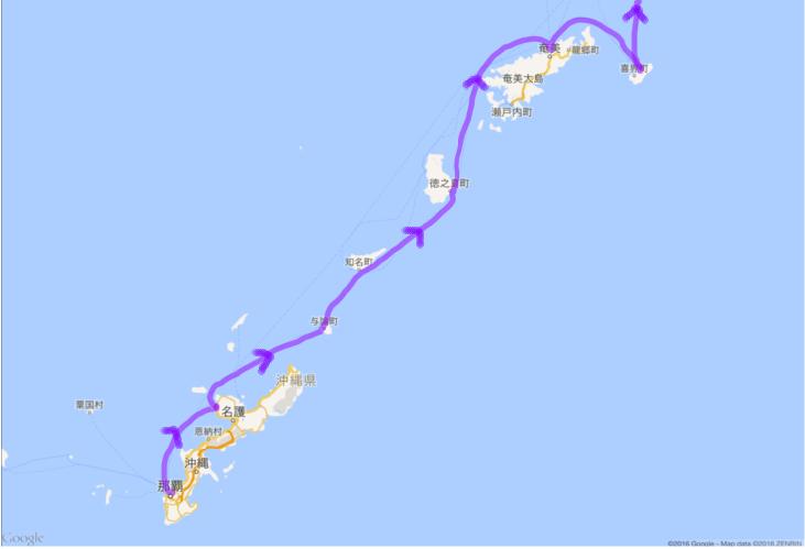 20160426 沖縄から奄美大島