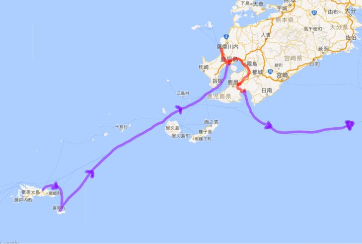 2016042627 奄美大島から喜界島 鹿児島