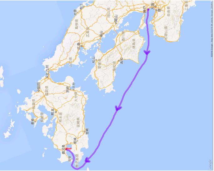 2016050809 神戸から鹿児島桜島