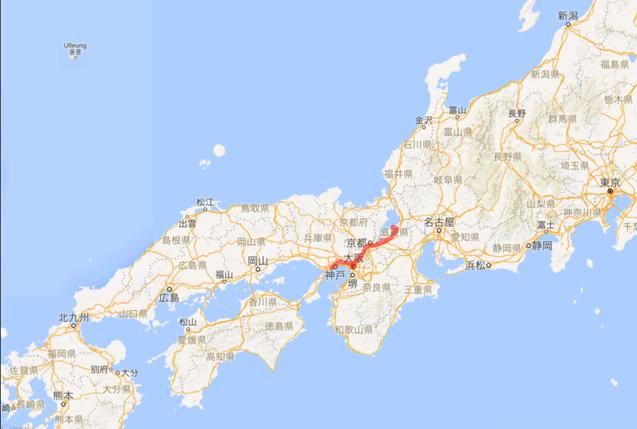 201605 神戸から陸路 琵琶湖へ