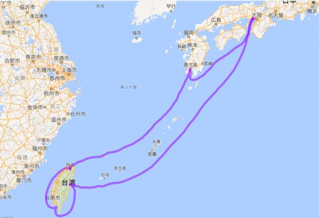 201605 神戸からフェリー 台湾一周