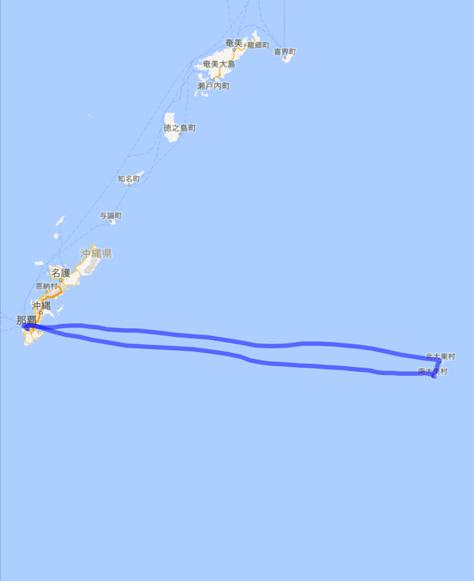 2016004 飛行機 北 南 大東島