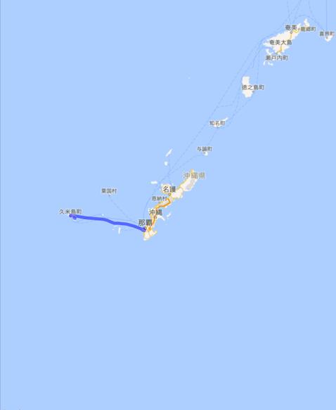201604 飛行機 久米島