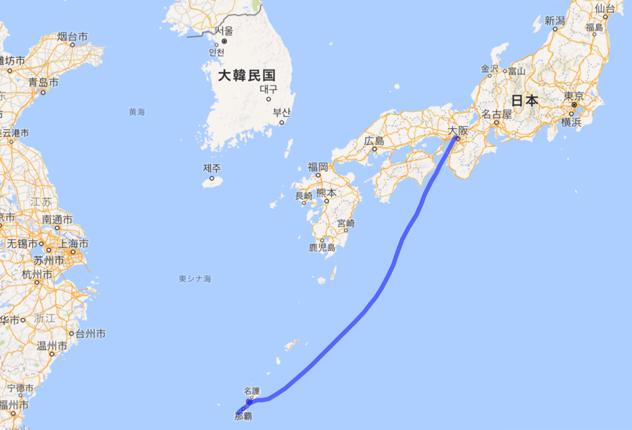 201605 大阪から飛行機で沖縄へ